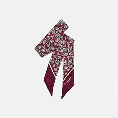 コーチ COACHのシグネチャー スタイル |ヴィンテージ シグネチャー プリント シルク スキニー スカーフ