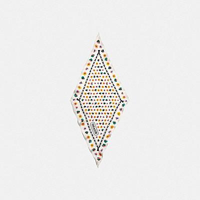 コーチ COACHの新作 |ペインテッド ティー ローズ フローラル プリント シルク ダイヤモンド スカーフ