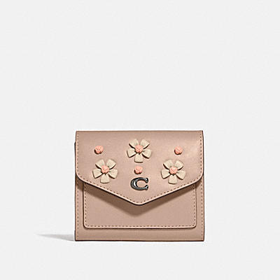 WYN SMALL WALLET WITH TEA ROSE KNOT