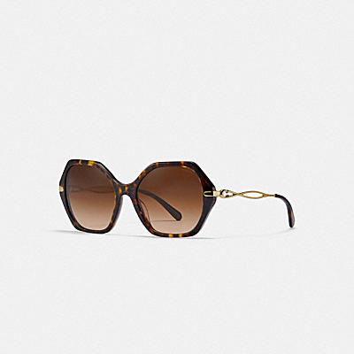 ASIA FIT SCULPTED SIGNATURE HEXAGON SUNGLASSES