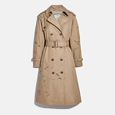 EMBROIDERED COTTON TRENCH