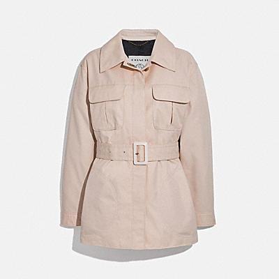 腰帶綁帶夾克
