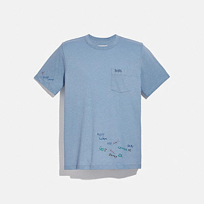 OVERSIZED POCKET T-SHIRT WITH EMBROIDERY
