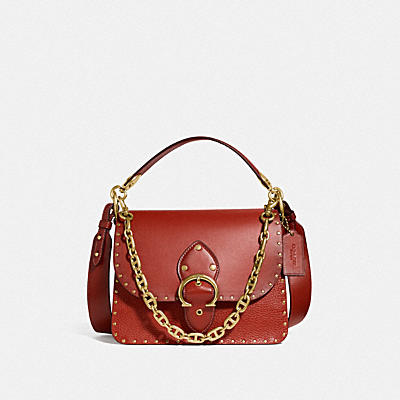 BEAT SHOULDER BAG WITH RIVETS