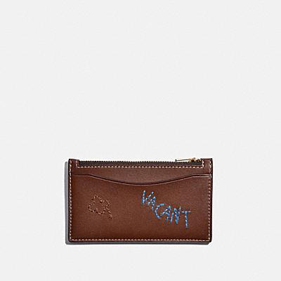 コーチ COACHの全ての財布&革小物 |ジップ カード ケース ウィズ エンブロイダリー