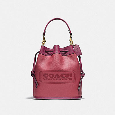 FIELD BUCKET BAG IN COLORBLOCK WITH COACH BADGE