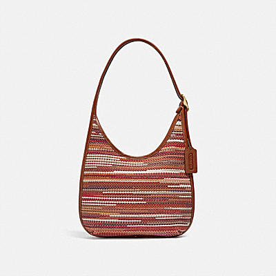 ERGO SHOULDER BAG IN UPWOVEN LEATHER