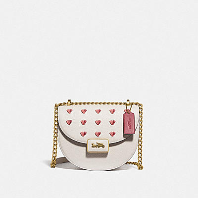 ALIE SADDLE BAG WITH HEART EMBROIDERY