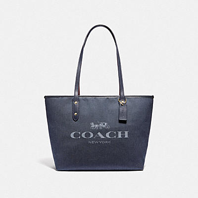 CITY ZIP TOTE WITH COACH PRINT