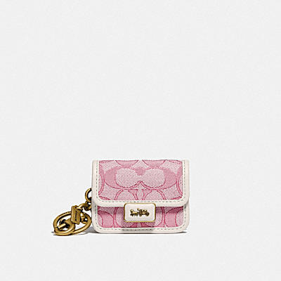 MINI ALIE BAG CHARM IN SIGNATURE JACQUARD