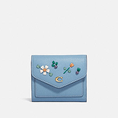 WYN SMALL WALLET WITH FLORAL EMBROIDERY