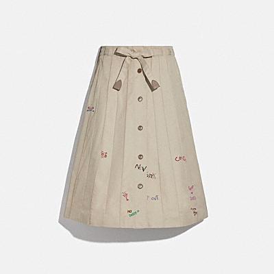 風衣鑲片半身裙
