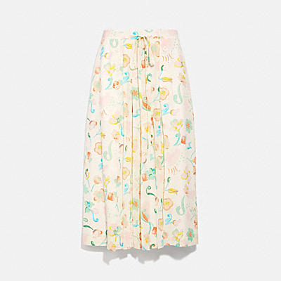 印花休閒半身裙