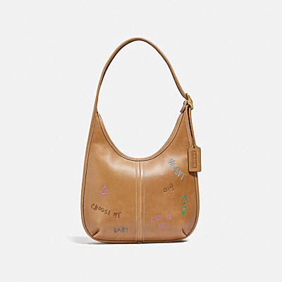 ERGO SHOULDER BAG WITH EMBROIDERY