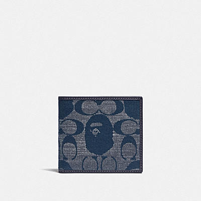 コーチ COACHの人気財布&革小物 |BAPE(R) X COACH コイン ウォレット シグネチャー シャンブレー