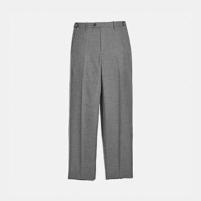 SOLID FLAT FRONT PANTS