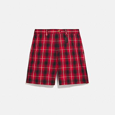 PLAID CUT OFF SHORTS