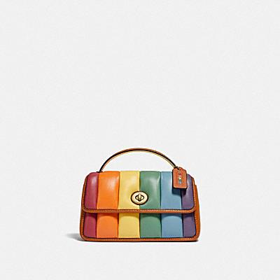 TURNLOCK 20 彩虹絎縫轉扣手拿包