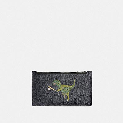 コーチ COACHの人気財布&革小物 |【日本限定】レキシー プレイ ジップ カード ケース  シグネチャー キャンバス