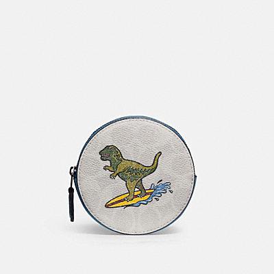コーチ COACHのコインケース&小銭入れ |【日本限定】レキシー プレイ ラウンド コイン ケース  シグネチャー キャンバス