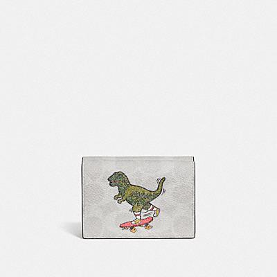 コーチ COACHの新作 |【日本限定】レキシー プレイ オリガミ ウォレット  シグネチャー キャンバス