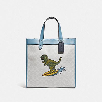 コーチ COACHの全てのレディースバッグ |【日本限定】レキシー プレイ フィールド トート シグネチャー キャンバス