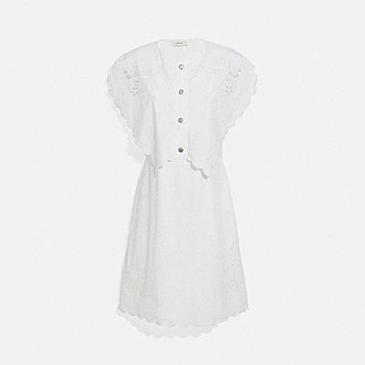 SHORT BRODERIE ANGLAISE DRESS