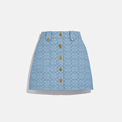 CHAMBRAY MINI SKIRT