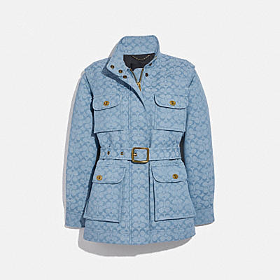 SIGNATURE CHAMBRAY FIELD JACKET