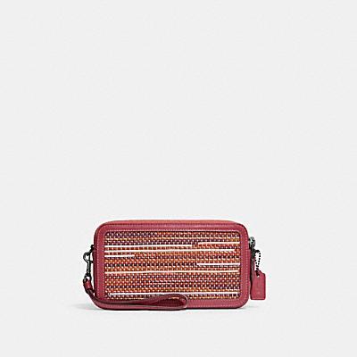 コーチ COACHの財布&革小物 |キラ クロスボディ アップウーブン レザー