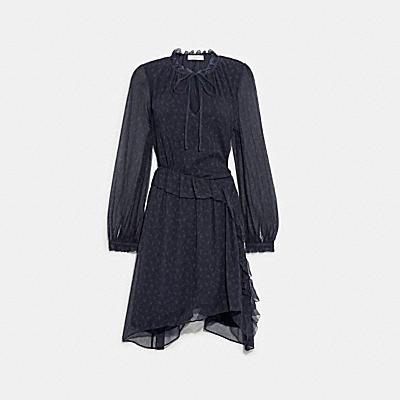 PRINTED SHORT DAY DRESS