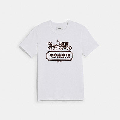 HORSE AND CARRIAGE T-SHIRT IN ORGANIC COTTON