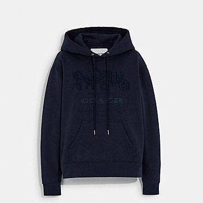 HORSE AND CARRIAGE HOODIE IN ORGANIC COTTON AND RECYCLED POLYESTER