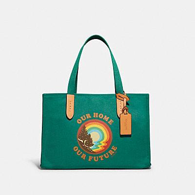 コーチ COACHの全てのレディースバッグ |100 パーセント リサイクル トート 30