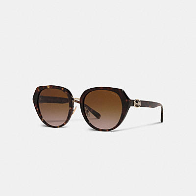 HORSE AND CARRIAGE OVERSIZED ROUND SUNGLASSES