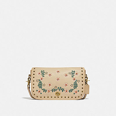 RESTORED CONVERTIBLE CLUTCH WITH FLORAL EMBROIDERY