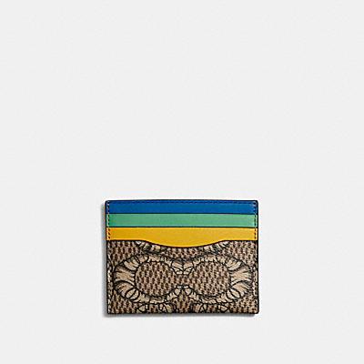 コーチ COACHの全ての財布&革小物  【COACH X MICHAEL B. JORDAN】カード ケース マミファイド シグネチャー キャンバス