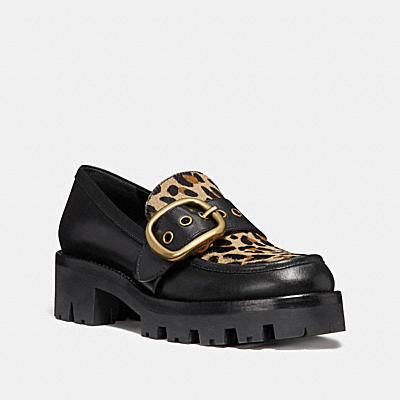 GRAND豹紋印花樂福鞋
