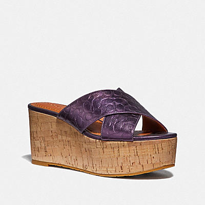 交叉帶楔型涼鞋