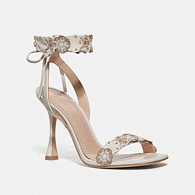 Brodie Tea Rose Heel Sandal - Leather