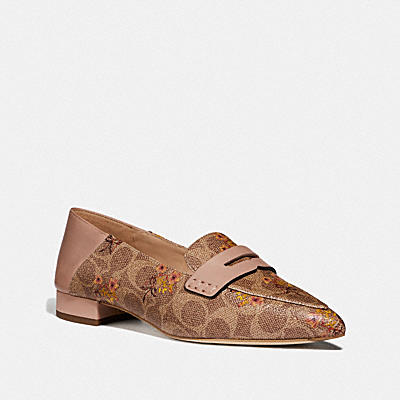 NAOMI LOAFER WITH FLORAL BOW PRINT