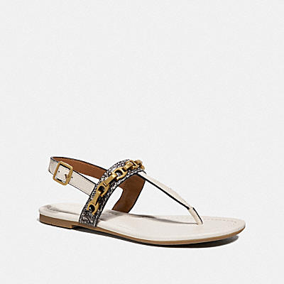 Jenna Sandal With Signature Chain And Snake- Mixed