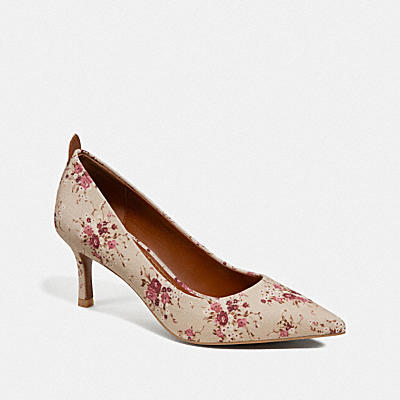 WAVERLY PUMP WITH FLORAL BUNDLE PRINT