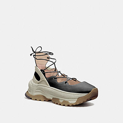 Lace Up Ballerina Sneaker- Leather