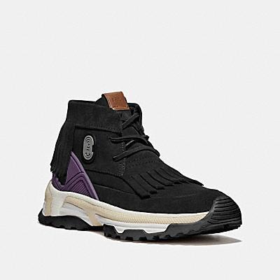 C243 COACH徽章流蘇莫卡辛鞋