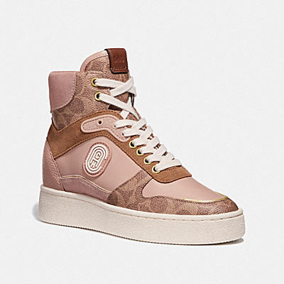 C220 HIGH TOP SNEAKER WITH COACH PATCH