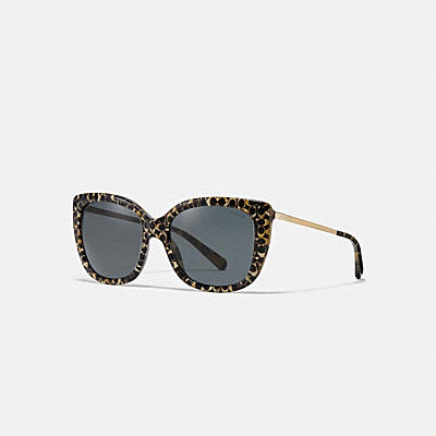 ASIAN FIT OMBRE SIGNATURE SQUARE SUNGLASSES
