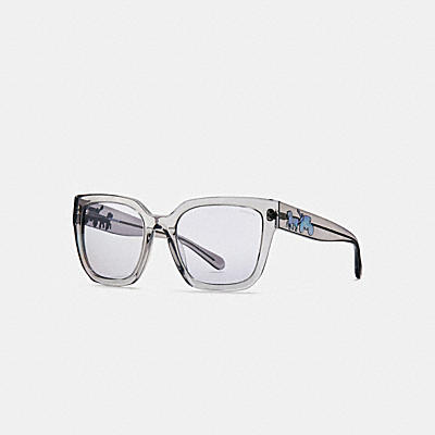 ASIAN FIT HORSE AND CARRIAGE HOLOGRAM SQUARE SUNGLASSES