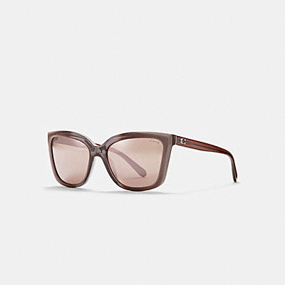 ASIA FIT BEVELED EDGE SQUARE SUNGLASSES