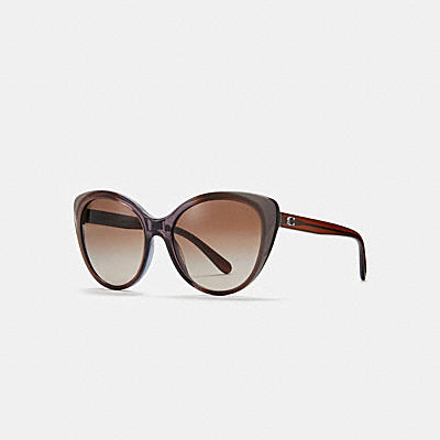 ASIA FIT BEVELED EDGE CAT EYE SUNGLASSES